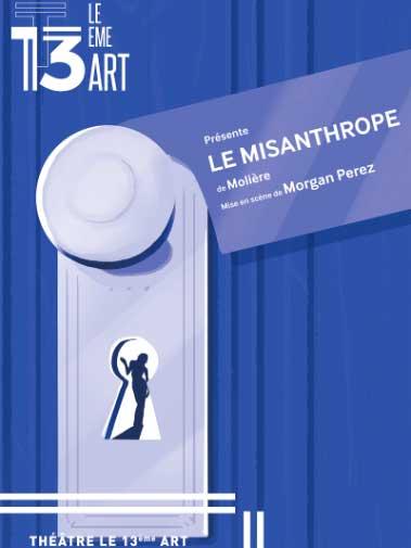 Affiche de la pièce de théâtre Le Misanthrope